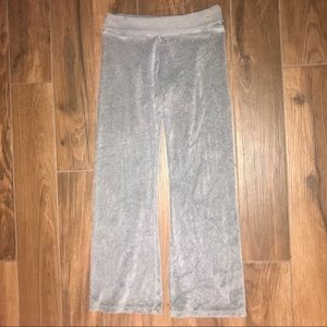 PINK | Gray Tracksuit Velour Pants XS